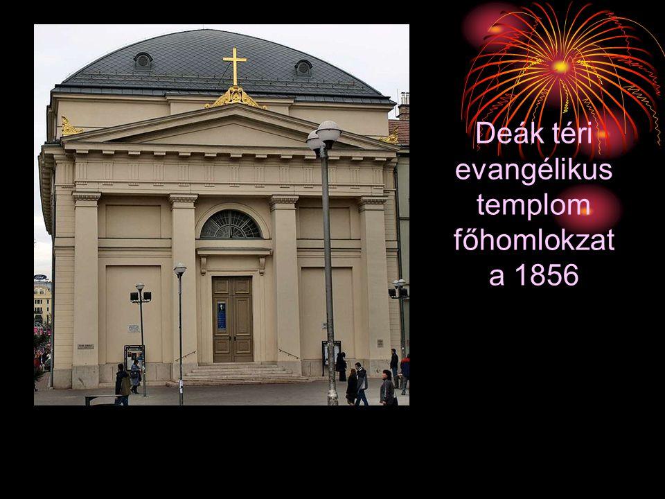 Deák téri evangélikus templom főhomlokzat a 1856