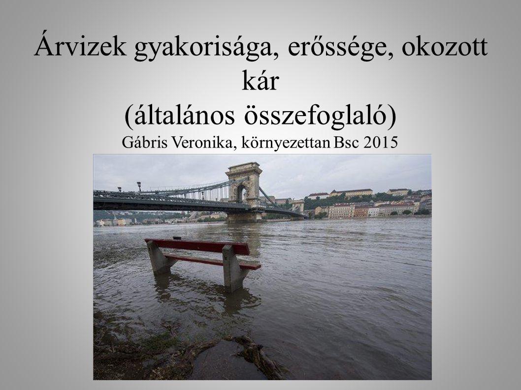 Gábris Veronika Y4EXCR Árvizek gyakorisága, erőssége, okozott kár (általános összefoglaló) Gábris Veronika, környezettan Bsc 2015