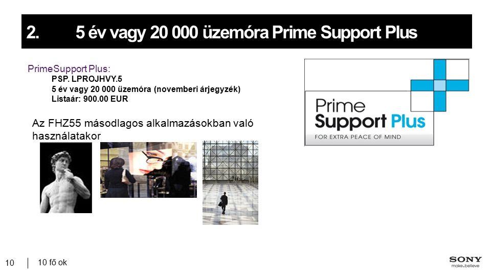 10 fő ok 10 2.5 év vagy 20 000 üzemóra Prime Support Plus PrimeSupport Plus: PSP.