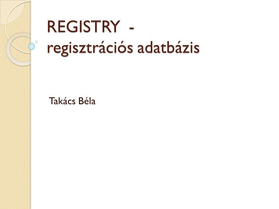 REGISTRY - regisztrációs adatbázis Takács Béla
