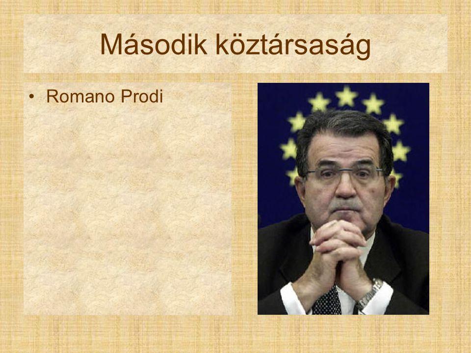 Második köztársaság Romano Prodi