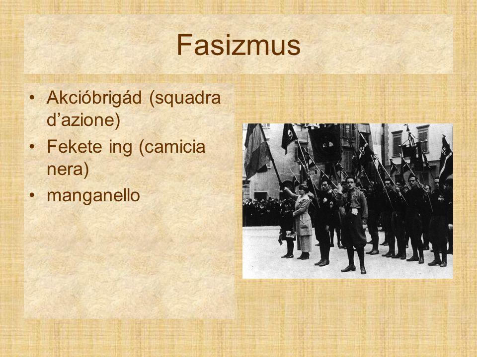 Fasizmus Akcióbrigád (squadra d'azione) Fekete ing (camicia nera) manganello