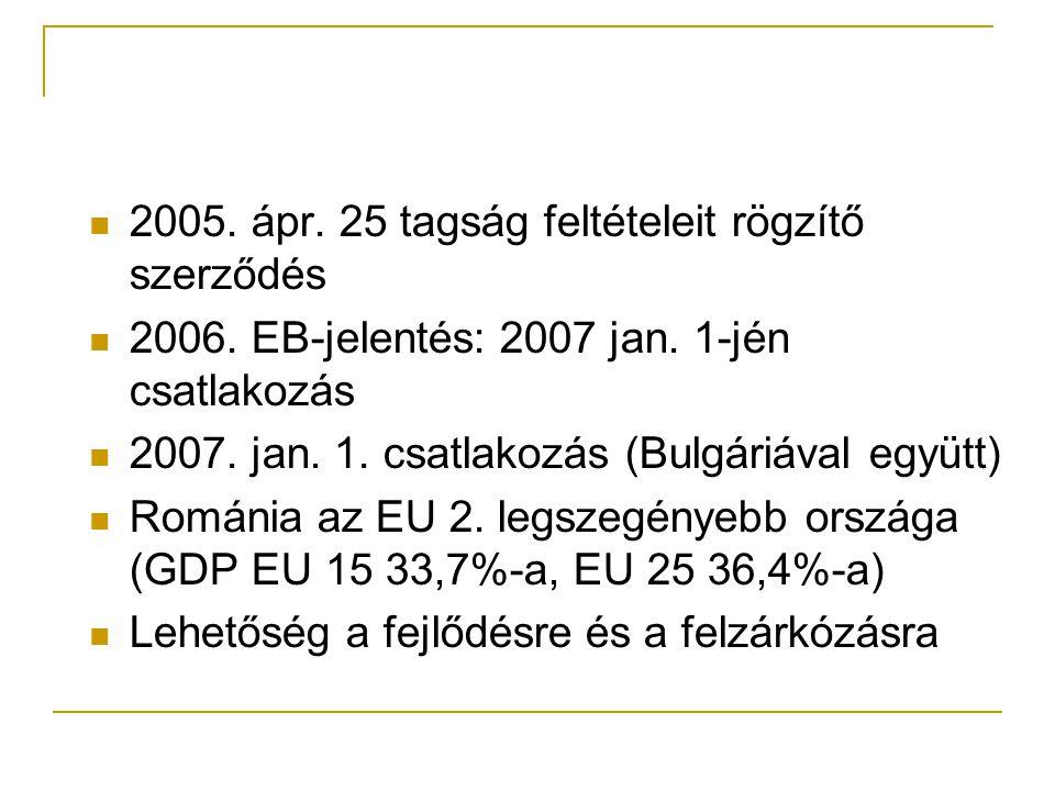 2005. ápr. 25 tagság feltételeit rögzítő szerződés 2006.