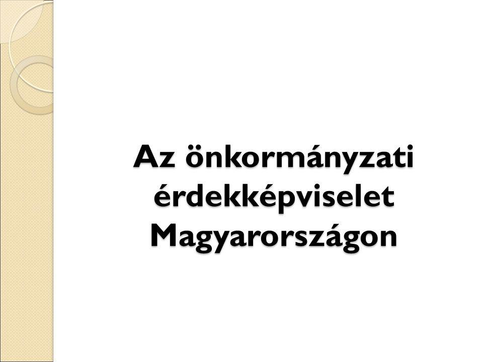 Az önkormányzati érdekképviselet Magyarországon