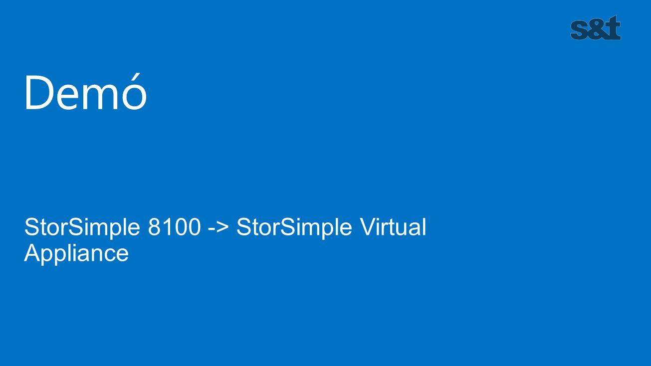 * Csak a StorSimple 8000 sorozattal ajánlott Felhő alk.* Virtuális gépek SharePoint Megosztások Archívumok SQL Server* Microsoft Azure Saját adatközpont DR* Fejlesztés, tesztelés*