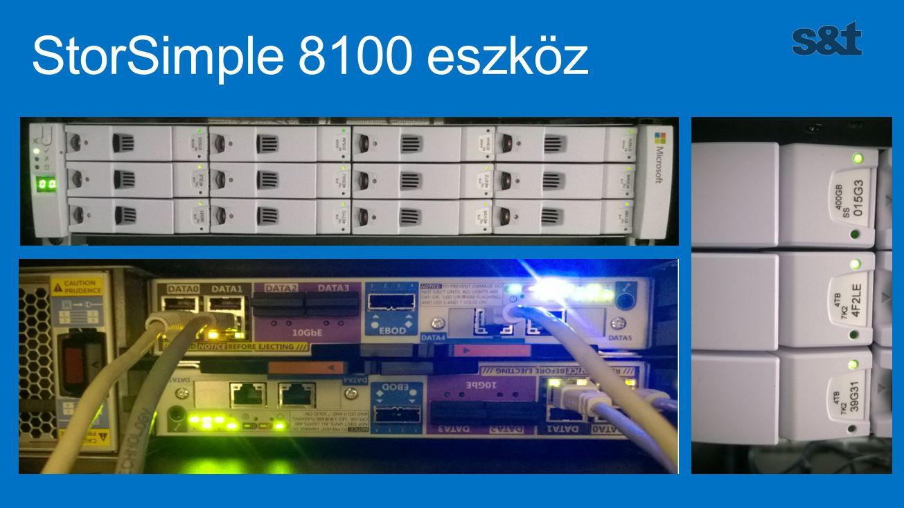 Típus81008600 Elérhető kapacitás15TB40TB Elérhető SSD kapacitás800GB2TB Használható helyi kapacitás15-75TB40-200TB Maximális kapacitás (felhő kiterjesztéssel) 200TB500TB Hálózati csatolók2 x 10G és 4 x 1G Méret1 X 2U2 X 2U