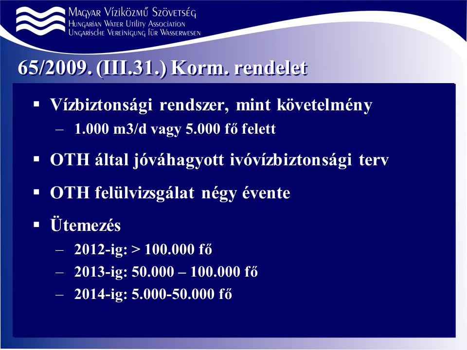 65/2009. (III.31.) Korm.