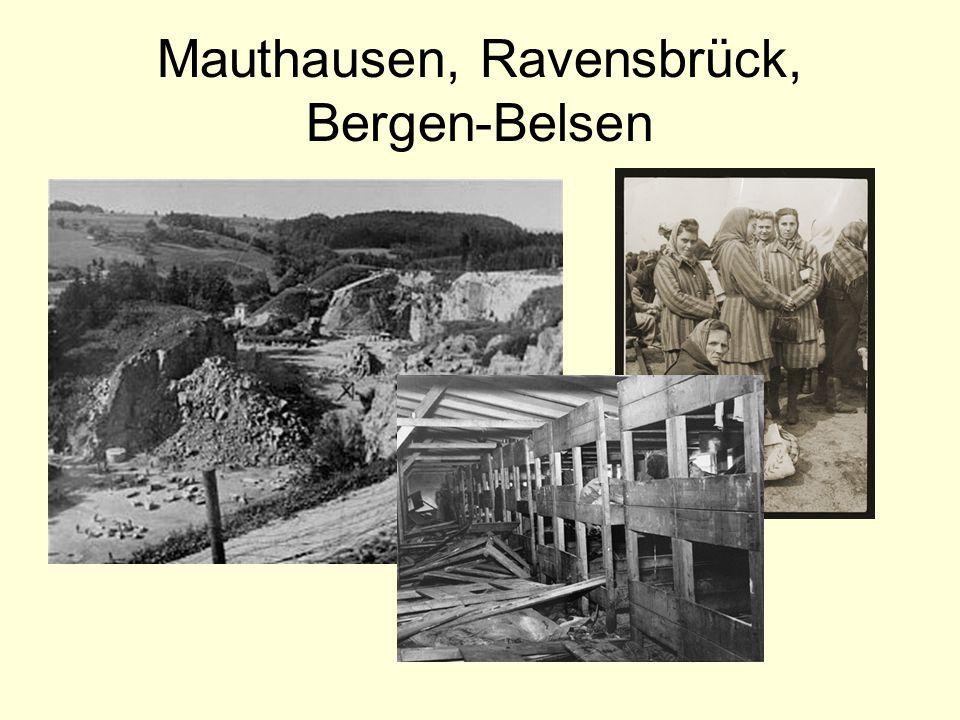 Mauthausen, Ravensbrück, Bergen-Belsen