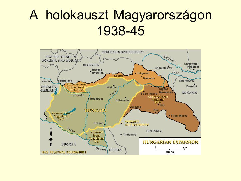 Zsidó élet a háború előtt Magyarország népessége 1941- ben: 14,5 millió Ebből zsidó: 825,000 (6%) Zsidó már a honfoglalás óta élnek Magyarországon.
