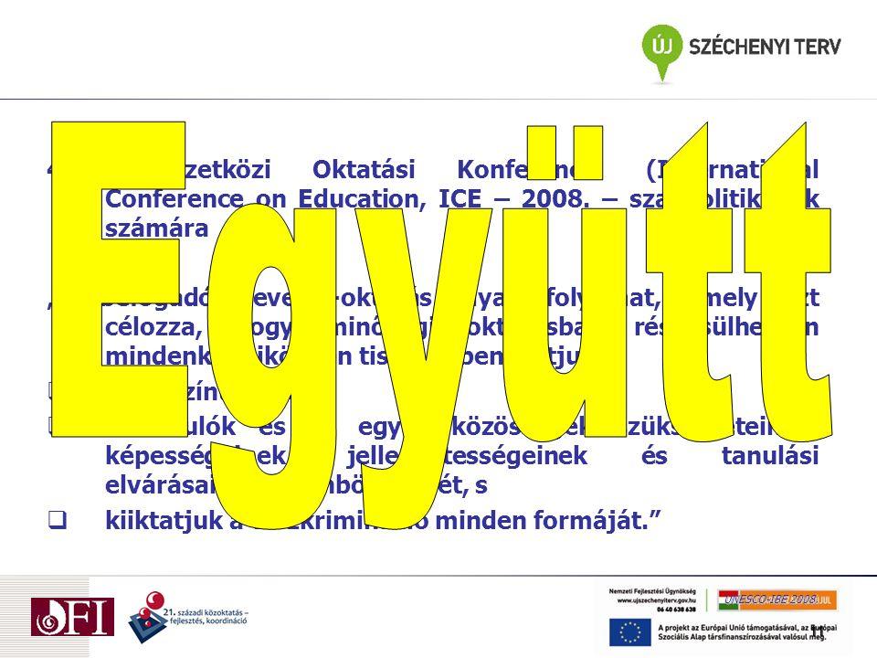 Iskolák és környezet Kőpataki-Mayer (OFI - 2009)  A hatékony együttnevelés feltétele a szakmai szervezetek és a szülők közötti regionális együttműködés.