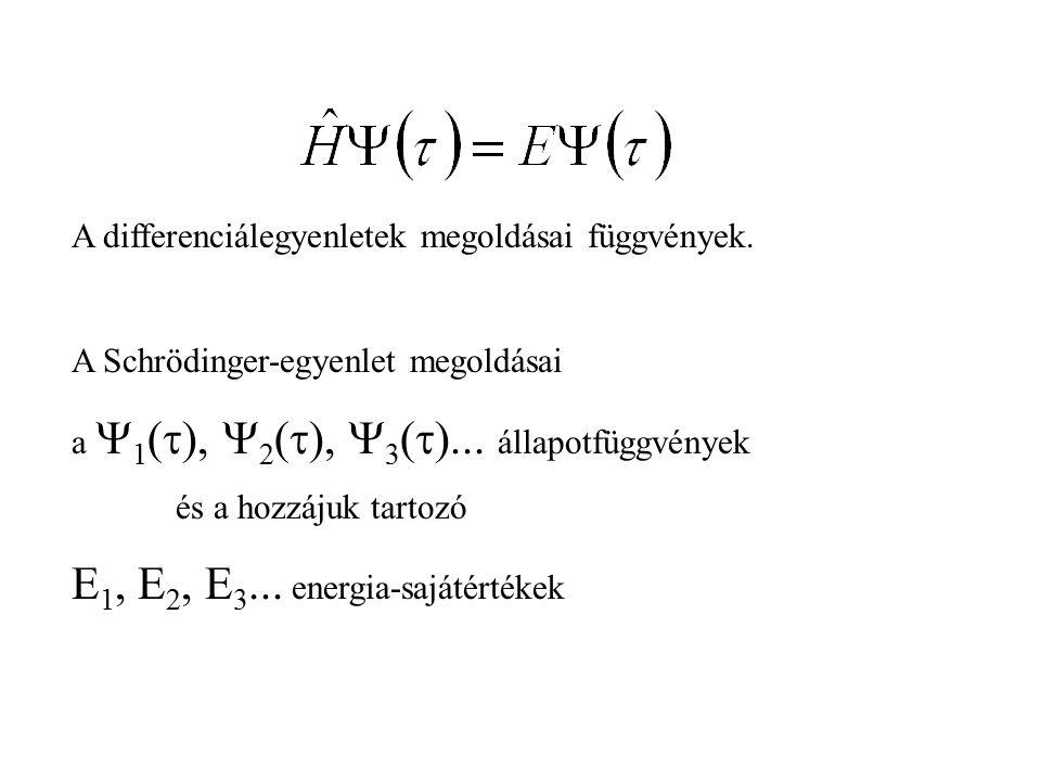 A differenciálegyenletek megoldásai függvények.