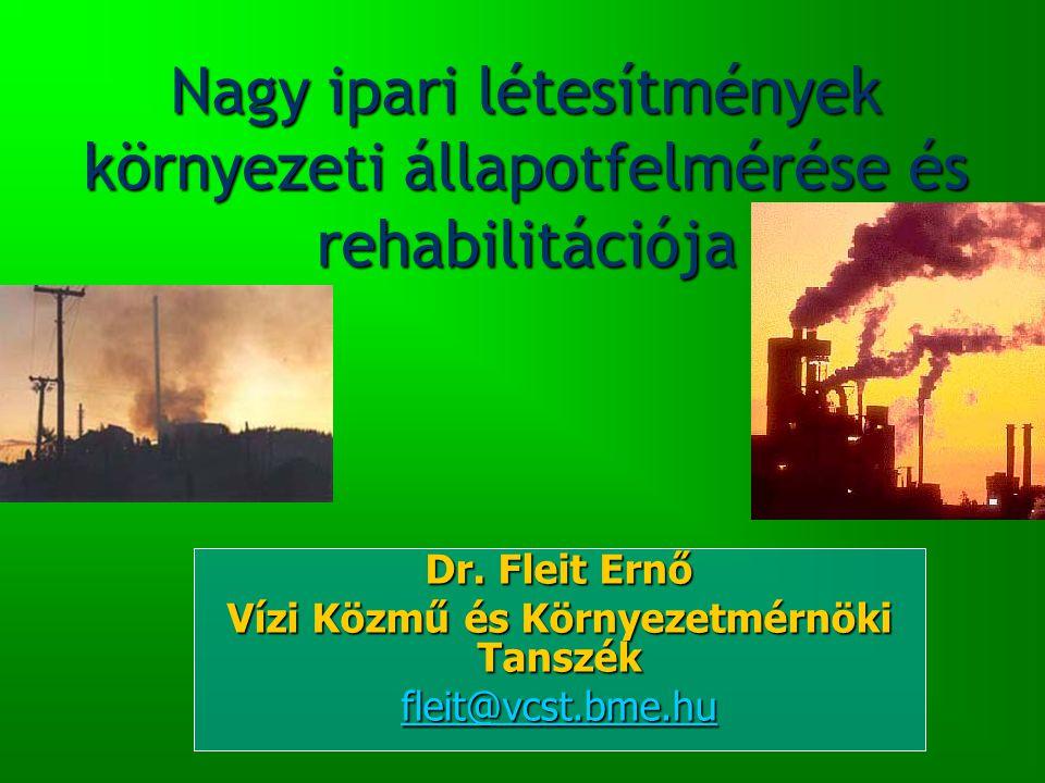 Nagy ipari létesítmények környezeti állapotfelmérése és rehabilitációja Dr.