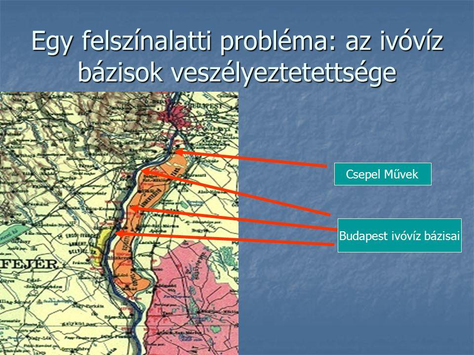 Egy felszínalatti probléma: az ivóvíz bázisok veszélyeztetettsége Csepel Művek Budapest ivóvíz bázisai