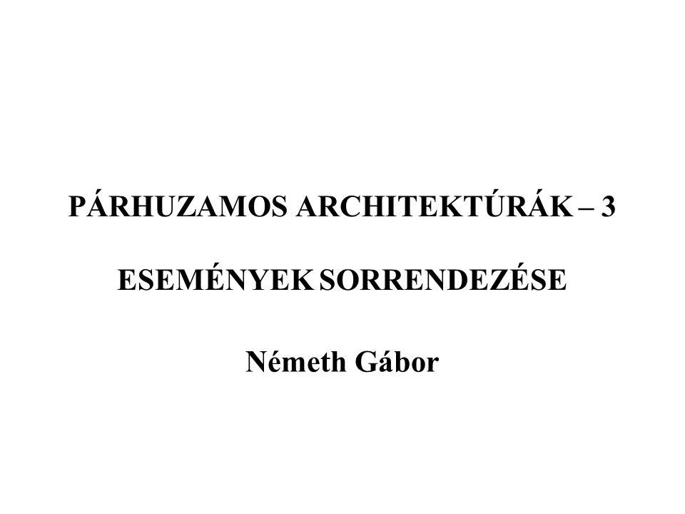 PÁRHUZAMOS ARCHITEKTÚRÁK – 3 ESEMÉNYEK SORRENDEZÉSE Németh Gábor