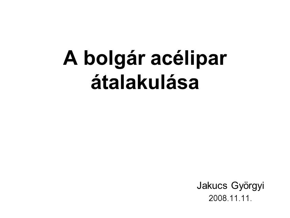 Nyersacélgyártás az európai szocialista országokban (millió tonna) (1960-63 és 1970-73) 0 2000 4000 6000 8000 10000 12000 14000 16000 18000 Jugoszlávia Bulgária MagyarországNémet Demokratikus Köztársaság RomániaCsehszlovákiaLengyelország 1960-63 1970-73 forrás: Benedek-Dudás (1989): Az európai szocialista országok gazdaságföldrajza