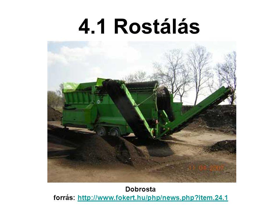 4.1 Rostálás Dobrosta forrás: http://www.fokert.hu/php/news.php?item.24.1http://www.fokert.hu/php/news.php?item.24.1