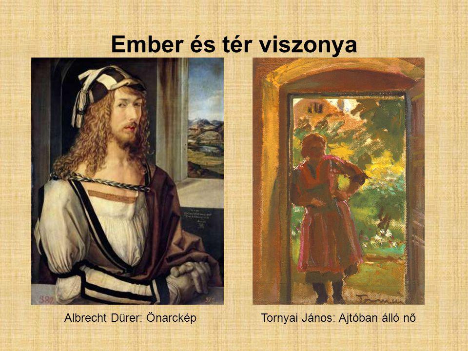 Különbségek: Dürer képen : részletes emberábrázolás alárendelt szerep a térnek az emberhez képest megvilágítás balról fenntről aprólékos, részletes ecsetkezelés Tornyai képen : a tér és az ember azonos szerepet kap az alak elnagyolt az alak hátulról van megvilágítva elnagyolt, durva ecsetkezelés Hasonlóságok: meleg színekkel dolgozik a festő pl.