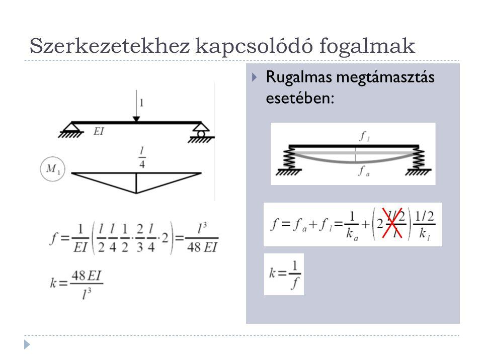 Szerkezetekhez kapcsolódó fogalmak  Gép és gépalap esetében:  Gerjesztéssel: