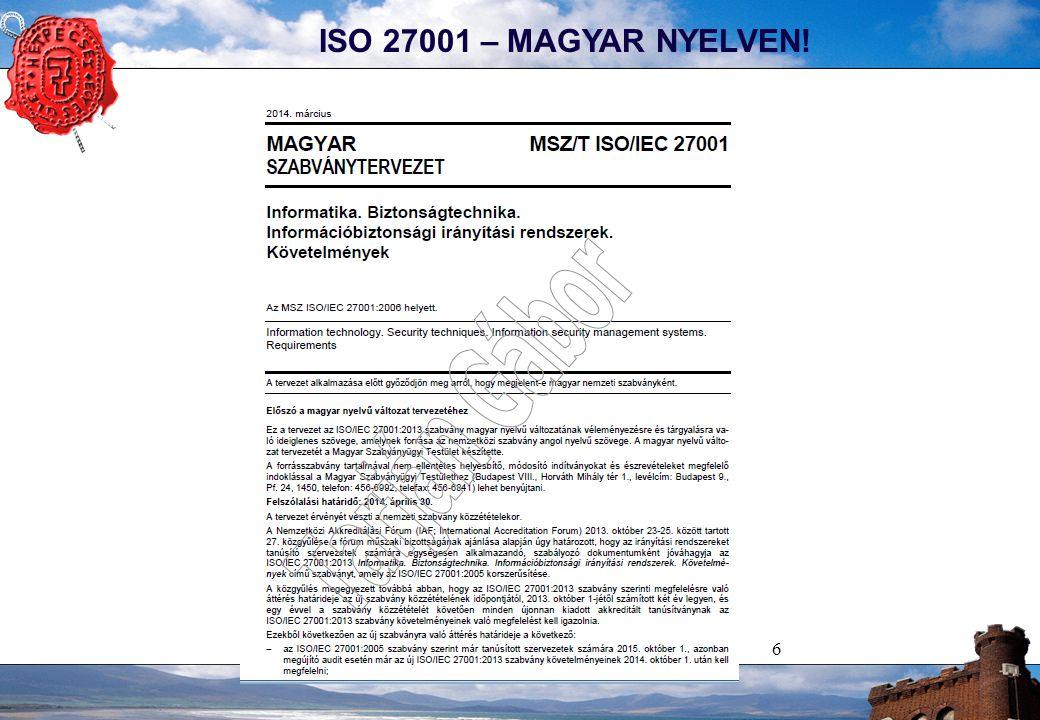 6 ISO 27001 – MAGYAR NYELVEN!