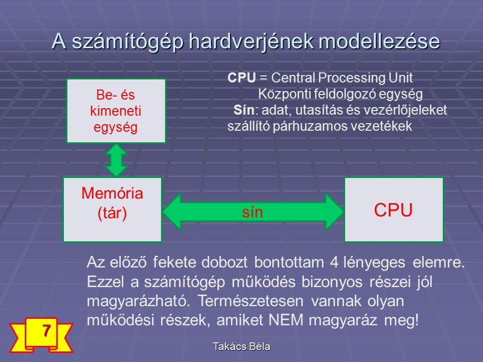 Mit lehet a modellel magyarázni.