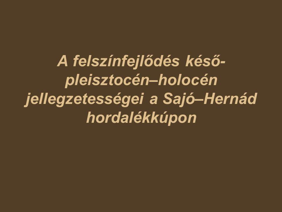 A felszínfejlődés késő- pleisztocén–holocén jellegzetességei a Sajó–Hernád hordalékkúpon