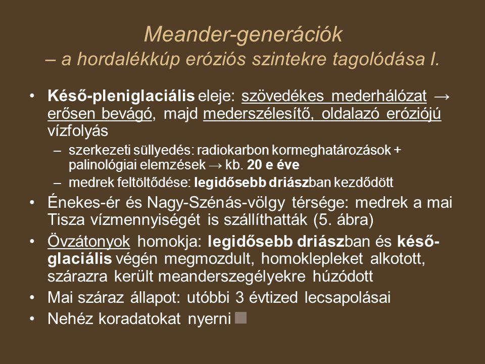 Meander-generációk – a hordalékkúp eróziós szintekre tagolódása I.