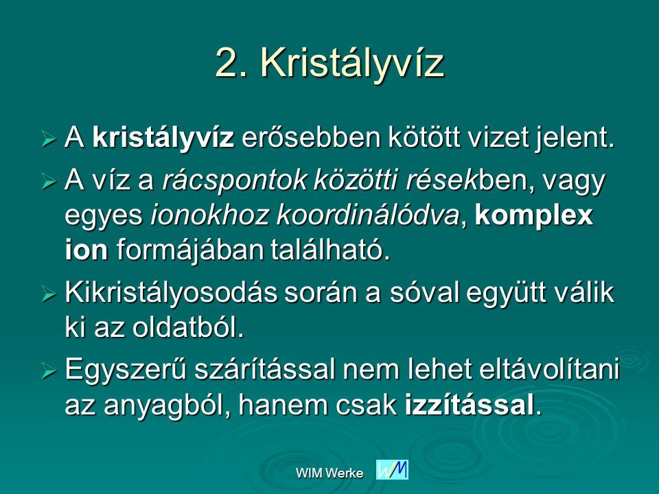 WIM Werke Kristályvizes sók szerkezete