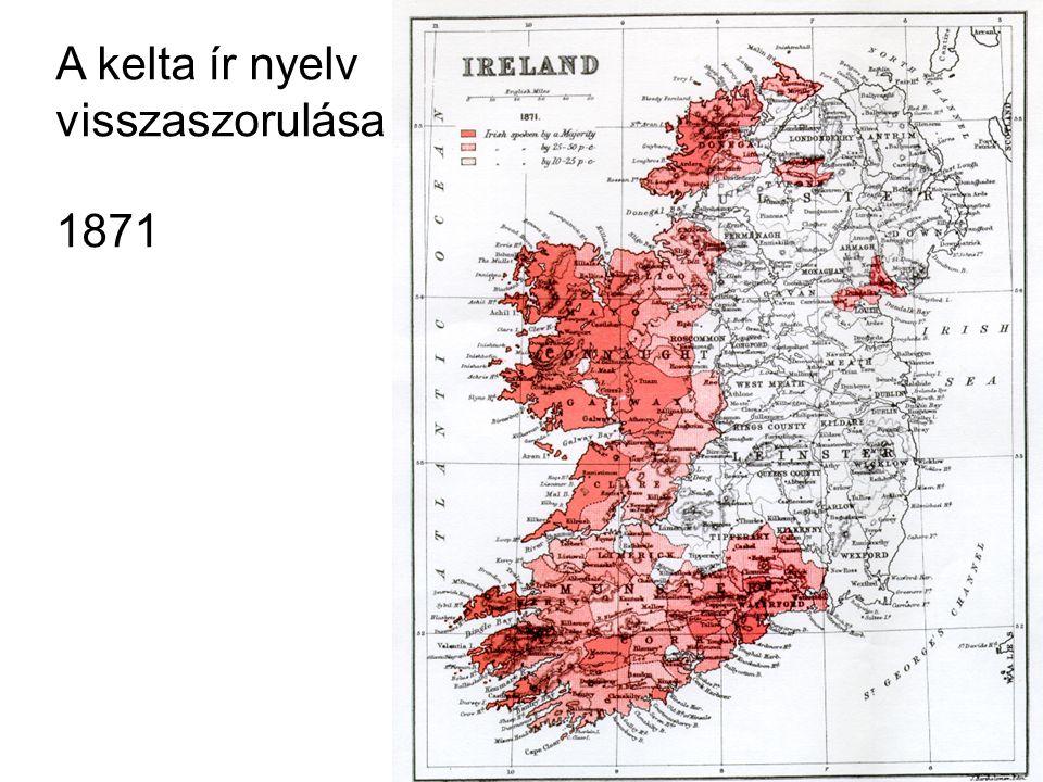 A kelta ír nyelv visszaszorulása 1871