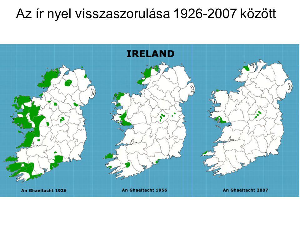 Az IRA ír terrorszervezet harca Írország egyesítéséért Észak-Írország vallási megosztása Piros - protestáns Kék - katolikus
