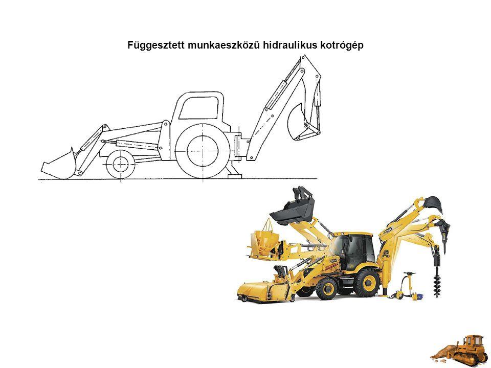Függesztett munkaeszközű hidraulikus kotrógép