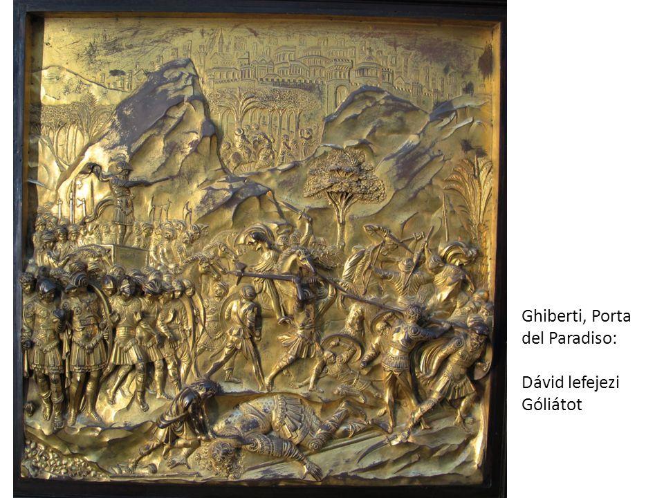 Ghiberti, Porta del Paradiso: Dávid lefejezi Góliátot