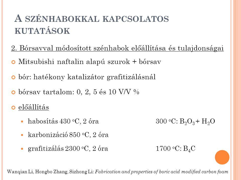 A SZÉNHABOKKAL KAPCSOLATOS KUTATÁSOK 2.