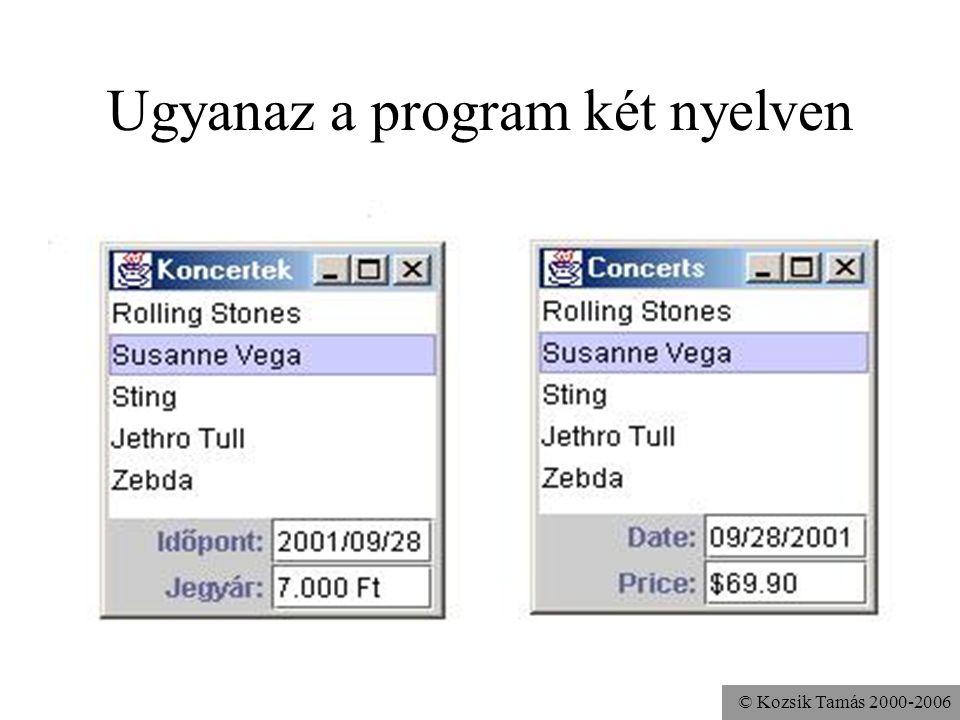© Kozsik Tamás 2000-2006 Ugyanaz a program két nyelven