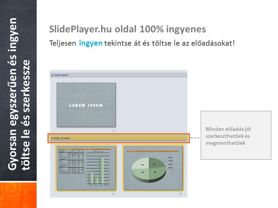 Gyorsan egyszerűen és ingyen töltse le és szerkessze SlidePlayer.hu oldal 100% ingyenes Teljesen ingyen tekintse át és töltse le az előadásokat.