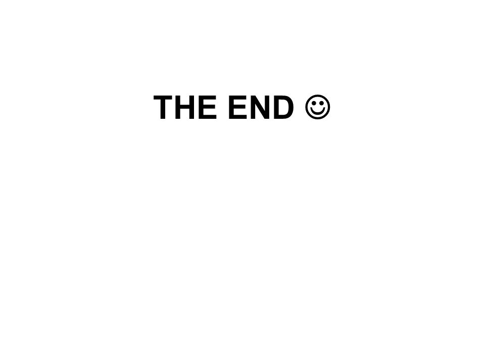 THE END 