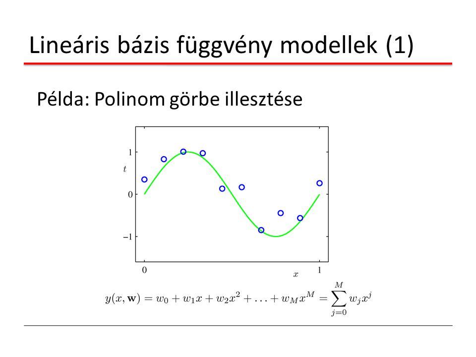 Lineáris bázis függvény modellek (1) Példa: Polinom görbe illesztése
