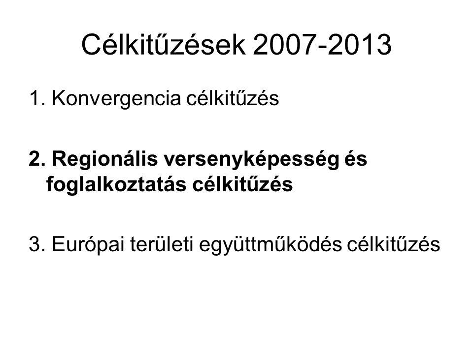 Konvergencia célkitűzés •A konvergencia célkitűzés hasonló a 2000-2006- os időszak 1.