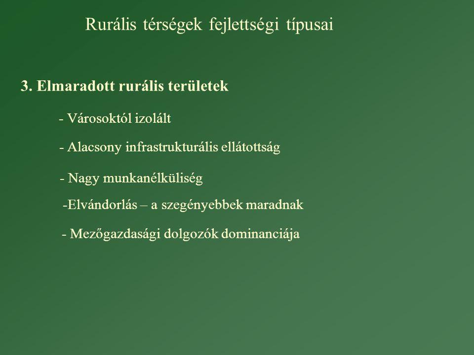 Rurális térségek fejlettségi típusai 3.