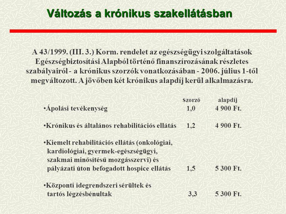 A 43/1999. (III. 3.) Korm. rendelet az egészségügyi szolgáltatások Egészségbiztosítási Alapból történő finanszírozásának részletes szabályairól - a kr