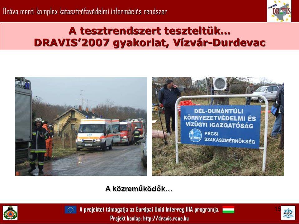 15 A tesztrendszert teszteltük… DRAVIS'2007 gyakorlat, Vízvár-Durdevac A közreműködők…