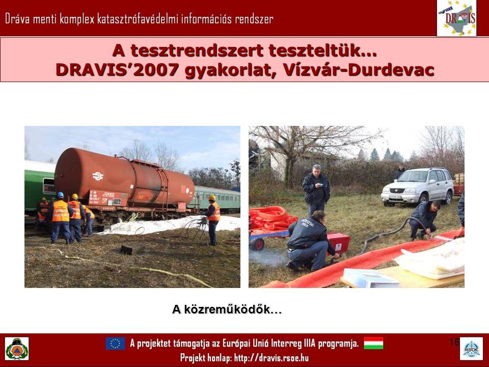 16 A tesztrendszert teszteltük… DRAVIS'2007 gyakorlat, Vízvár-Durdevac A közreműködők…