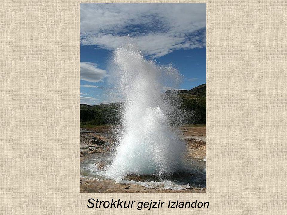 Strokkur gejzír Izlandon