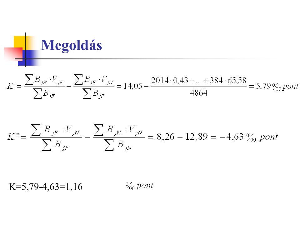 K=5,79-4,63=1,16
