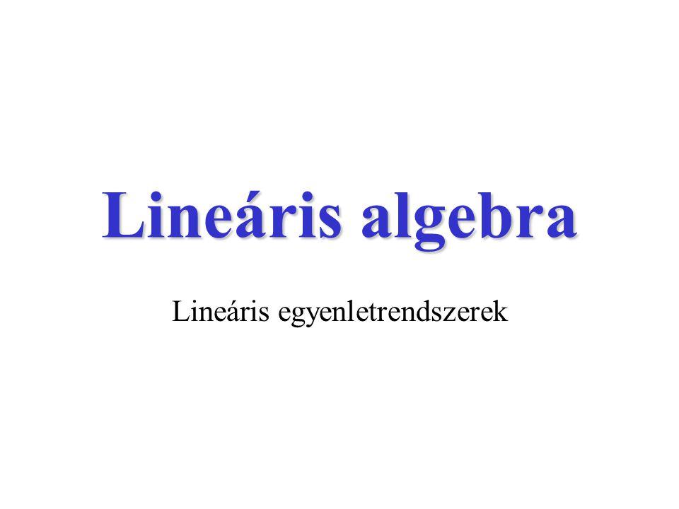 Lineáris algebra Lineáris egyenletrendszerek