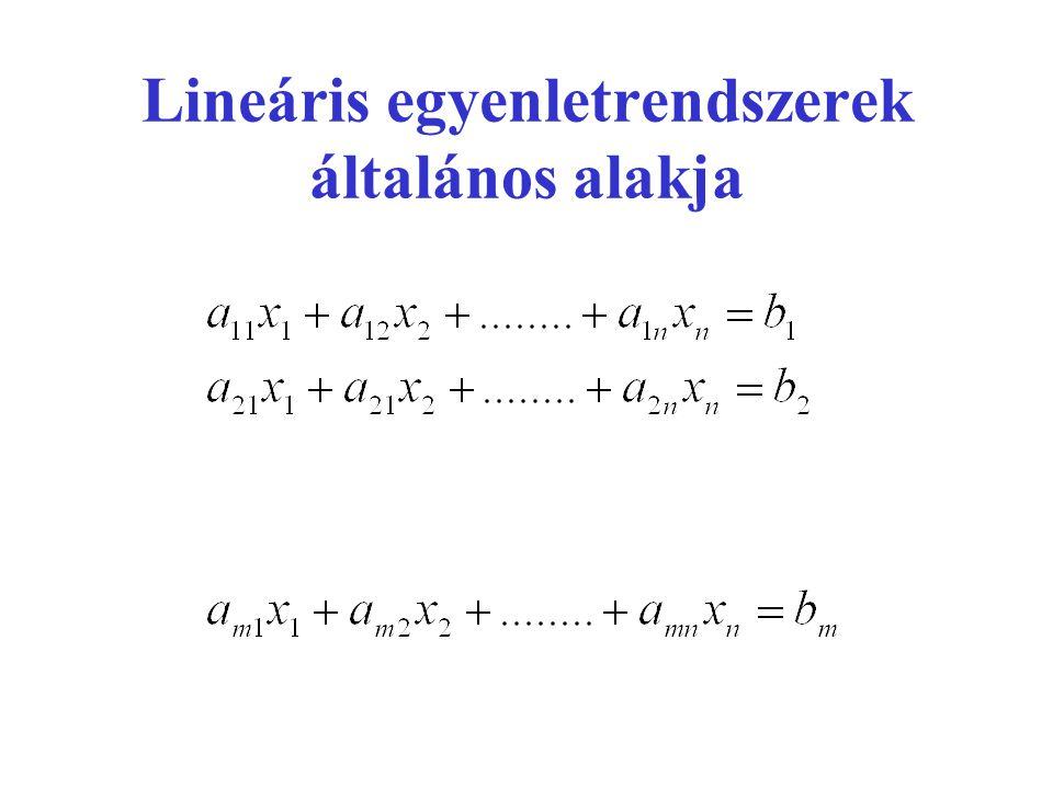 Mátrixok •Két mátrix akkor és csak akkor egyenlő, ha azonos típusúak és a megfelelő helyen álló elemeik rendre egyenlők egymással.