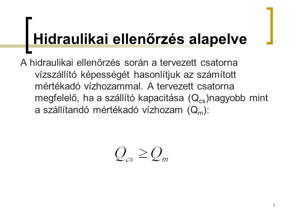 Beton csővezetékek hidraulikai méretezése I.