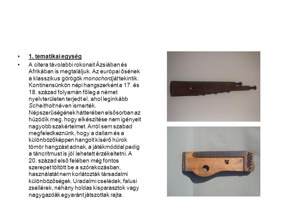 4. Kiállító terem •A Sándorfalvi citerazenekar története (1980-as évek elejétől napjainkig)