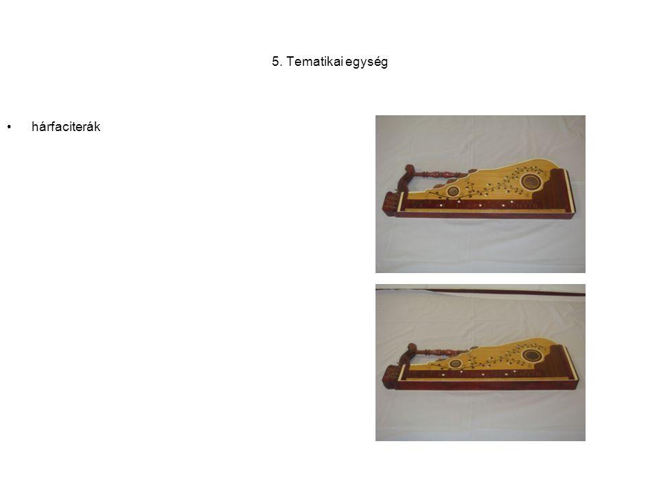6. Tematikai egység •Gyári készítésű citerák
