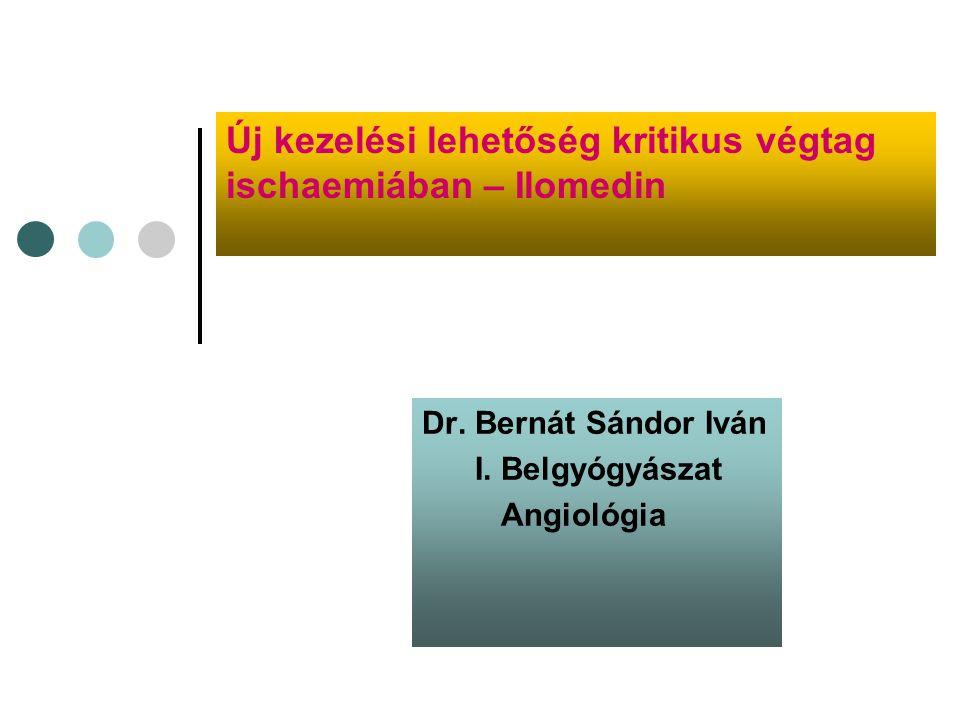 Perifériás artériás okkluzív betegség ( PAOD) Krónikus kritikus végtag ischaemia jellemzőbb tünetei: -nyugalmi fájdalom -ischaemiás fekélyek -gangréna 7500 Magyarországon évente közel 7500 végtagot amputálnak érszűkület miatt.
