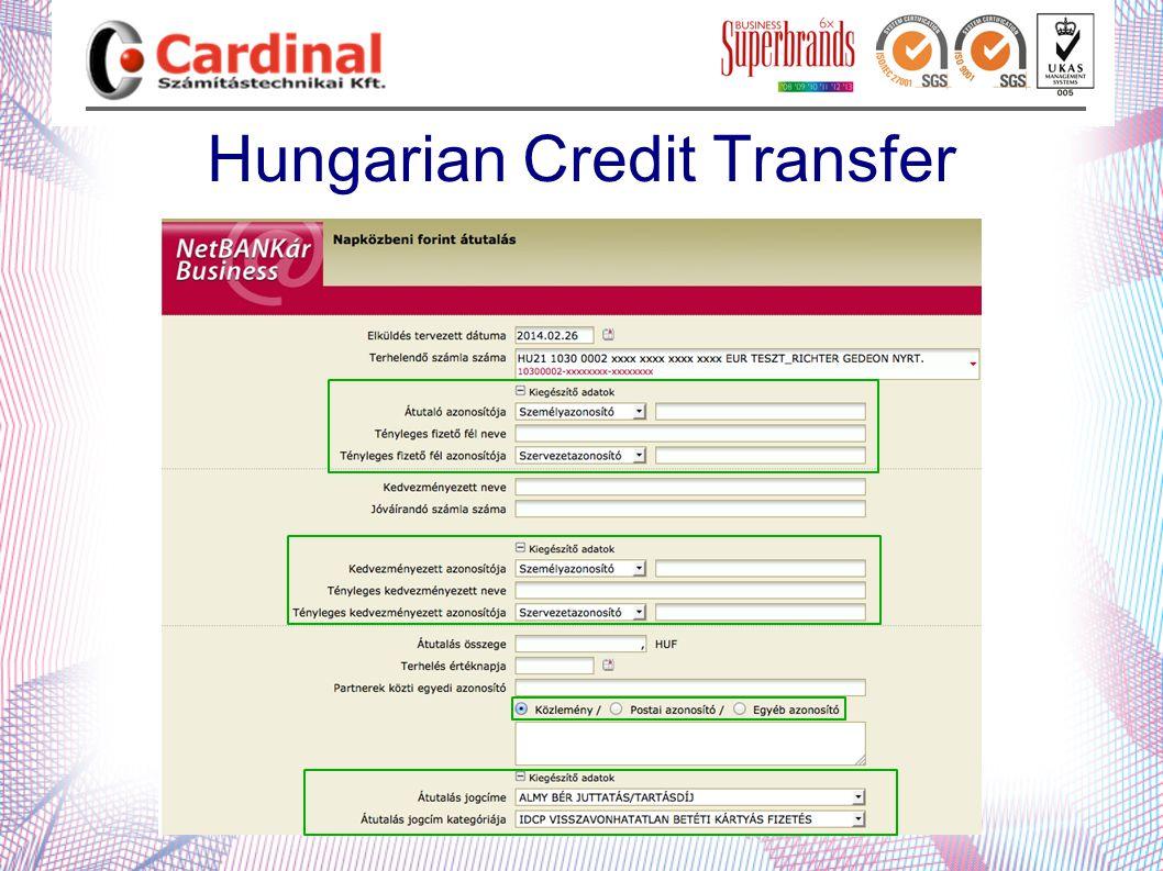 Hungarian Credit Transfer